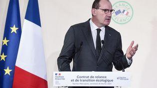 Jean Castex lors de la conférence de presse du 26 février 2021. (SEBASTIEN SALOM-GOMIS / AFP)