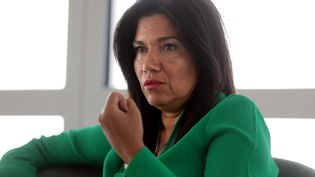 Samia Ghali, adjointe à la mairie de Marseille, le 8 septembre 2020. (VALERIE VREL / MAXPPP)