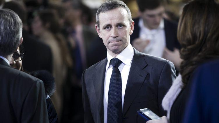 Christophe Billan, le 29 janvier 2017, à La Villette, à Paris, lors d'un grand rassemblement autour de François Fillon pendant la campagne présidentielle. (MAXPPP)