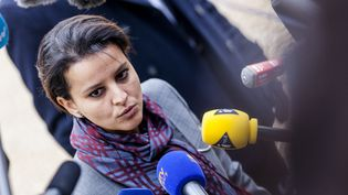 La ministre de l'Education nationale, Najat Vallaud-Belkacem, à Paris, le 5 janvier 2015. (AURÉLIEN MORISSARD / AFP)