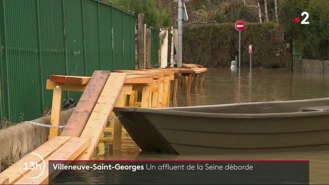 Inondations : Villeneuve-Saint-Georges s'organise devant a montée de la Seine
