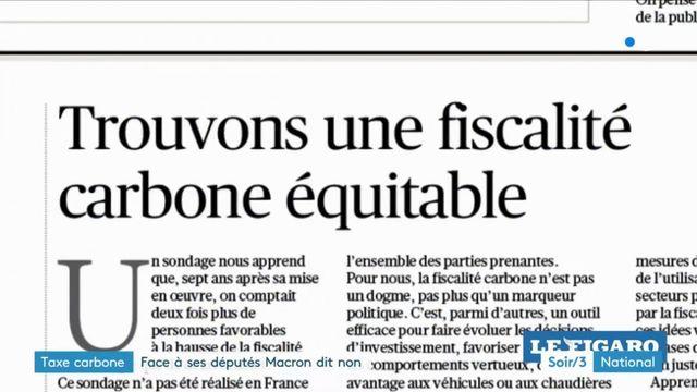 La taxe carbone divise Macron et le parti LREM