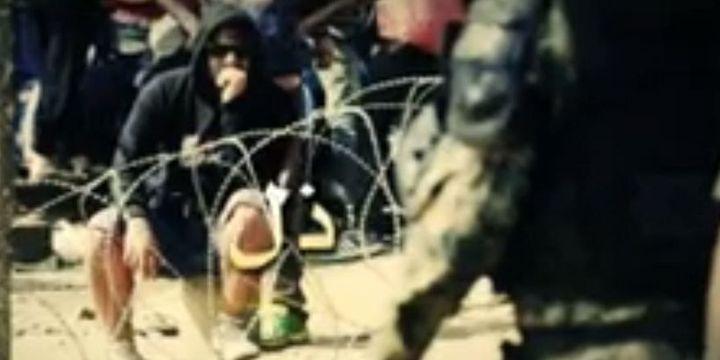 Capture d'écran de la vidéo de propagande de Daech. (capture d'écran )