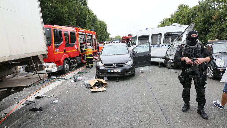 L'accident a fait 22 blessés dont trois graves. (MAXPPP)
