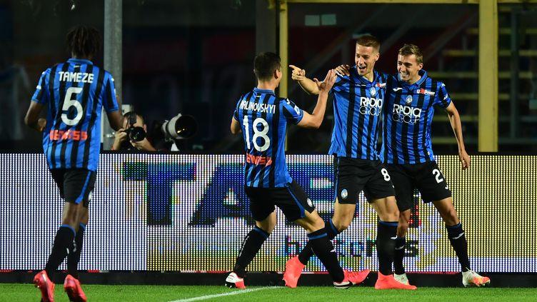 Les joueurs de l'Atalanta Bergame  (MIGUEL MEDINA / AFP)