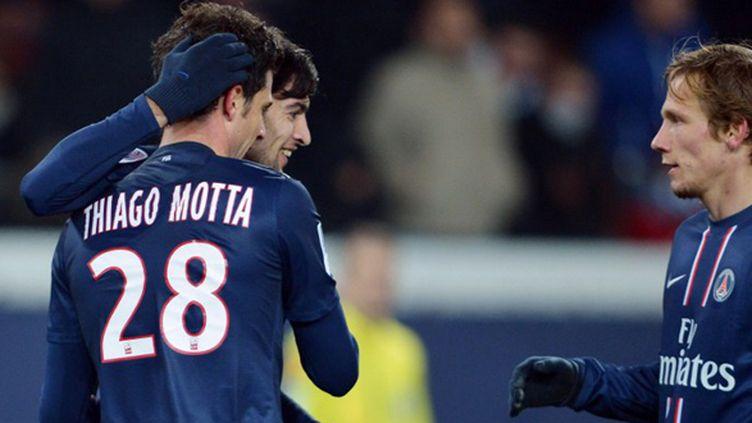 Thiago Motta pendant une de ses apparitions sous le maillot du PSG (MIGUEL MEDINA / AFP)