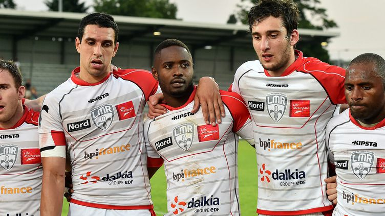 Les joueurs du Lille Métropole Rugby (PATRICK DELECROIX / MAXPPP)