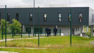 La prison de Condé-sur-Sarthe (Orne) au lendemain d'une prised'otages, le 12 juin 2019. (GUILLAUME SOUVANT / AFP)