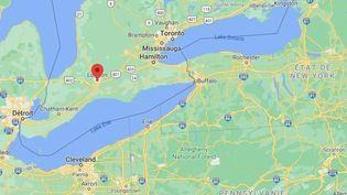 La ville de London, dans la province de l'Ontario (Canada). (GOOGLE MAPS)