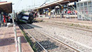 Le déraillement d'untrain à Brétigny-sur-Orge (Essonne) a fait sept morts, le 12 juillet 2013. (A.J.CASSAIGNE / PHOTONONSTOP / AFP)