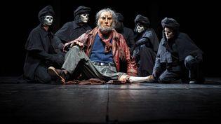 """Le capitaine Achab dans la pièce """"Moby Dick"""" de la compagnie Plexus Polaire. (CHRISTOPHE RAYNAUD DE LAGE)"""