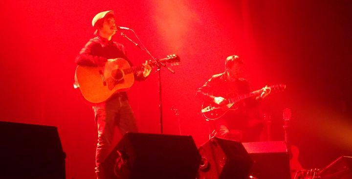 Gauvain et Martial sur la scène de la salle Paul Garcin à Lyon le 23 novembre 2017  (Jean-François Convert)