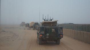 Deuxième jour de convoi. Départ du camp français d'Indelimane. (ERIC AUDRA / RADIO FRANCE)