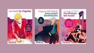 Les trois premiers titres de lasérie KuroSavoir des éditions Kurokawa, qui propose des grands titres de la philosophie en manga (-)