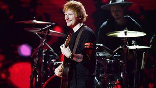 LechanteurEd Sheeran, en Suède, le 8 octobre 2021. (KARIN TORNBLOM / TT NEWS AGENCY / AFP)