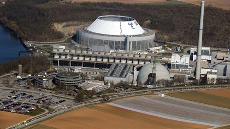 La centrale nucléaire de Neckarwestheim, dans le sud de l'Allemagne (12/03/2011) (AFP / Patrick Seeger)