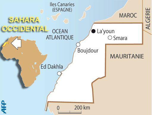 CARTE SAHARA OCCIDENTAL (AFP/LF)