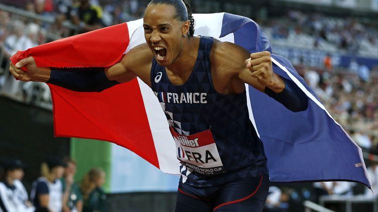 Pascal Martinot-Lagarde, champion d'Europe du 110m haies (IAN KINGTON / AFP)