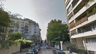 Des immeubles de la rue Erlanger, dans le 16e arrondissement de Paris. (GOOGLE MAPS)