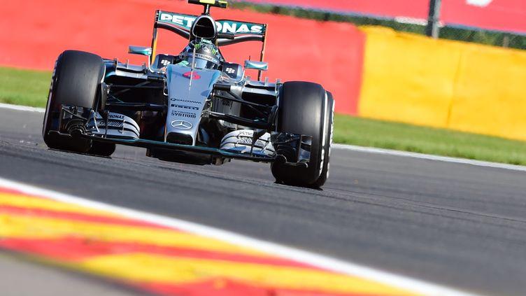 Nico Rosberg ne s'est jamais imposé à Spa (EMMANUEL DUNAND / AFP)