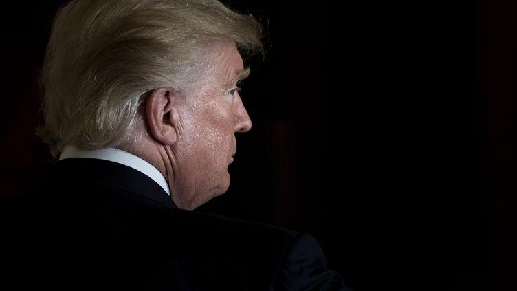 Donald Trump, le 6 octobre 2017 à la Maison Blanche. (BRENDAN SMIALOWSKI / AFP)