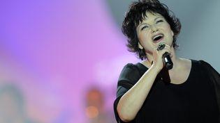 La chanteuse Maurane, à Paris, le 6 mars 2010. (LIONEL BONAVENTURE / AFP)