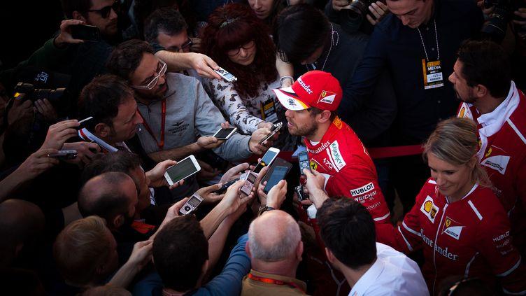 Sebastian Vettel et Ferrari ont essayé de maîtriser leur communication au maximum. (DPI / NURPHOTO)
