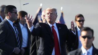 Donald Trump, le 3 février 2017 à Palm Beach en Floride (Etats-Unis). (JOE RAEDLE / GETTY IMAGES NORTH AMERICA / AFP)