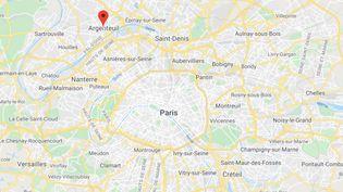 L'accident est survenu à un arrêt de bus à Argenteuil, dans le Val-d'Oise. (GOOGLE MAPS)