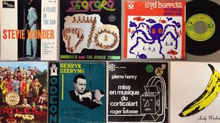 Quelques exemples des vinyles mis aux enchères. (Radio France)