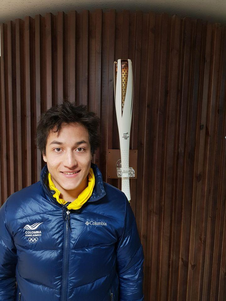 Micha Poettoz est français d'adoption mais dispute les JO de Pyeongchang pour son pays d'origine, la Colombie. (FACEBOOK / MICHA POETTOZ)