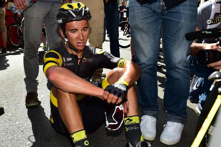 Bryan Coquard, abattu après avoir terminé 2e à Limoges en 2016. (?FRANCIS NICOLAS/MAXPPP / MAXPPP)