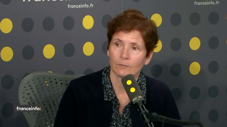 Valérie Sipahimalani, secrétaire générale adjointe du SNES-FSU, le 18 avril 2019 sur franceinfo. (FRANCEINFO)