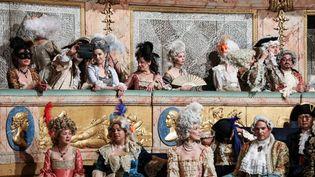 Les participants dans l'Opéra Royal de Versailles (LUDOVIC MARIN / AFP)
