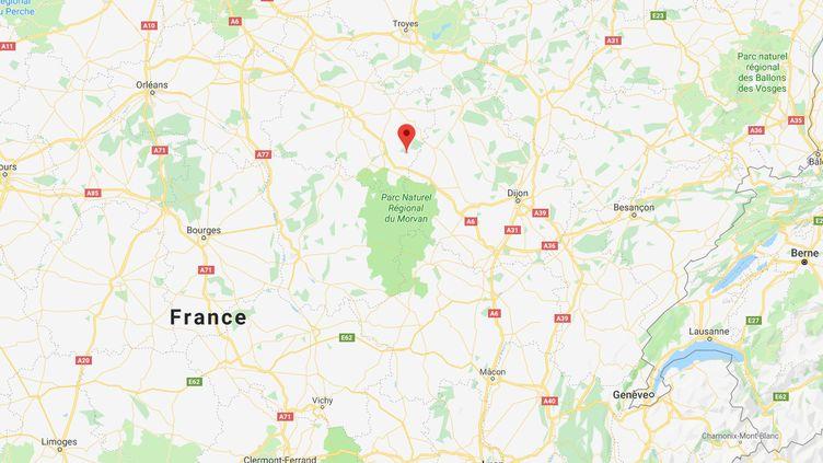 Capture d'écrangéolocalisant la commune de Marmeaux, dans le département de l'Yonne. (GOOGLE MAPS)