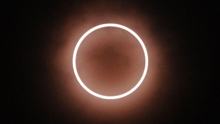 L'éclipse totale de soleil vue de Tokyo (Japon), le 21 mai 2012. (KAZUHIRO NOGI / AFP)