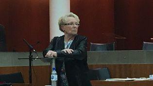 Chantal Beining lors du procès en appel de Francis Heaulme en décembre 2018. (CÉCILE SOULÉ / FRANCE-BLEU LORRAINE NORD)