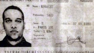 La carte d'identité de Said Kouachi, l'un des deux frères recherchés après l'attaque de Charlie Hebdo le 7 janvier 2015. ( AFP )
