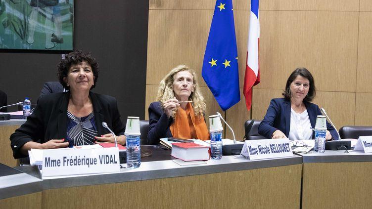 Auditions de trois ministres par la commission spéciale chargée d'examiner le projet de loi relatif à la bioéthique, le 9 septembre 2019. (MAXPPP)