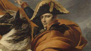 Bonaparte, Premier consul, franchissant les Alpes, au mont Saint-Bernard, le 20 mai 1800.Collection du Prince Napoléon, 1979. Par le peintreDavid Jacques Louis (1748-1825) (FRANCK RAUX / CHATEAU DE VERSAILLES / RMN -GRAND PALAIS VIA AFP)
