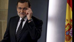 Mariano Rajoy, Premier ministre espagnol sortant, donne une conférence de presse, à Madrid, le 22 janvier 2016. (JUAN MEDINA / REUTERS)