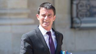 Le Premier ministre Manuel Valls, à la sortie du Conseil des ministres, mercredi 4 mai 2016 à l'Elysée. (YANN BOHAC / CITIZENSIDE / AFP)