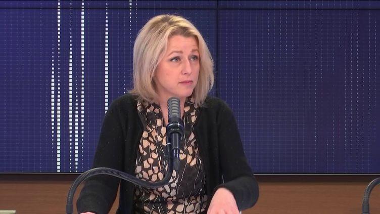 Barbara Pompili, ministre de la Transition écologique, était l'invitée de franceinfo le 2 mars 2021. (FRANCEINFO / RADIOFRANCE)