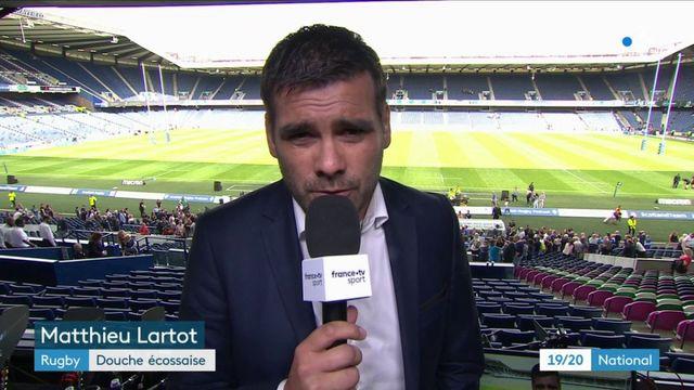 Rugby : le XV de France déçoit face à l'Écosse