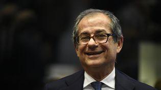 Le ministre de l'Economie et des Finances italien, Giovanni Tria, au Luxembourg, le 1er octobre 2018. (JOHN THYS / AFP)