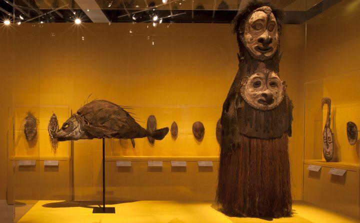 Masques de la vallée du Sepik au Quai Branly  (musée du Quai Branly, photo Gautier Deblonde)