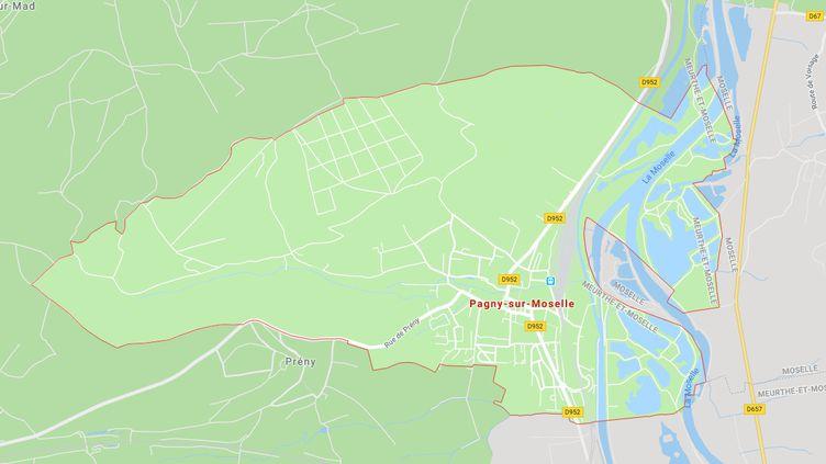 Le jeune homme a disparu à Pagny-sur-Moselle, alors qu'il pêchait. (CAPTURE ECRAN GOOGLE MAPS)