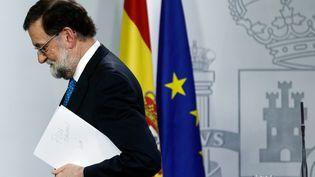 Mariano Rajoy, le 22 décembre 2017. (OSCAR DEL POZO / AFP)