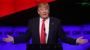 Donald Trump, lors du débat entre les candidats républicains à la primaire pour la présidentielle, le 10 mars 2016 à Miami (Floride). (CARLO ALLEGRI / REUTERS)