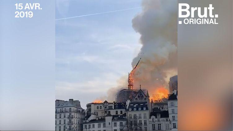 Ce 15 avril, Notre-Dame de Paris a été prise par les flammes. Un drame qui a ému le monde entier. (BRUT)